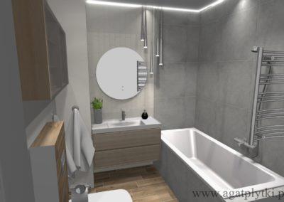 projekt beżowej łazienki