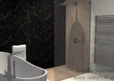 łazienka z gres marquina